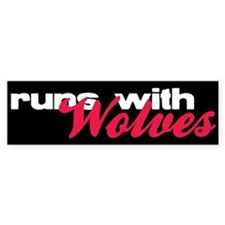 Runs With Wolves Bumper Car Sticker