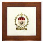 POULET Family Crest Framed Tile