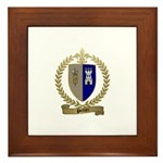 POTHIER Family Crest Framed Tile