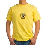 POTHIER Family Crest Yellow T-Shirt