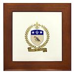PORLIER Family Crest Framed Tile