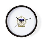 PORLIER Family Crest Wall Clock