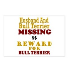 Husband & Bull Terrier Missing Postcards (Package