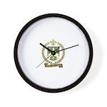 POITEVIN Family Crest Wall Clock