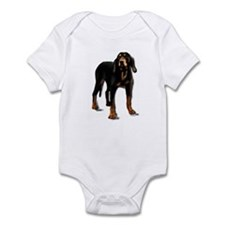 black and tan hound Infant Bodysuit