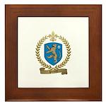 PLOURDE Family Crest Framed Tile