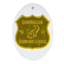 Dominican Drinking League Oval Ornament