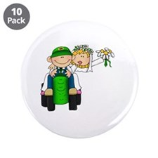 "Funny Daisy wedding 3.5"" Button (10 pack)"