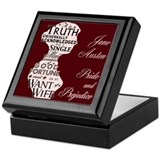 Jane Austen Quote Keepsake Box