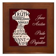 Jane Austen Quote Framed Tile