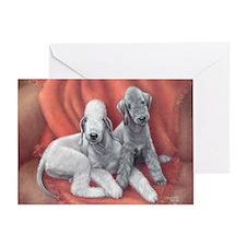 Bedlington Puppy Love Greeting Card