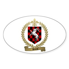 PINEAU Family Crest Oval Sticker