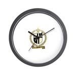 PILOTTE Family Crest Wall Clock