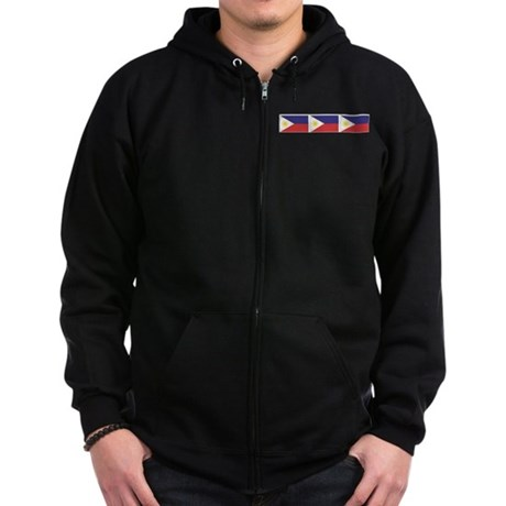 Philippine Flags Zip Hoodie (dark)