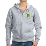 Live Green Think Green Women's Zip Hoodie