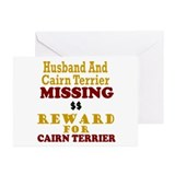 Husband & Cairn Terrier Missing Greeting Cards (Pk