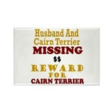 Husband &amp; Cairn Terrier Missing Rectangle Magnet (