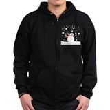 Holiday Snowman  Zip Hoodie