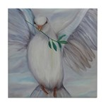 White Dove of Peace Tile Coaster