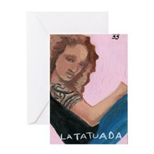 Loteria Series 08: La Tatuada Greeting Card