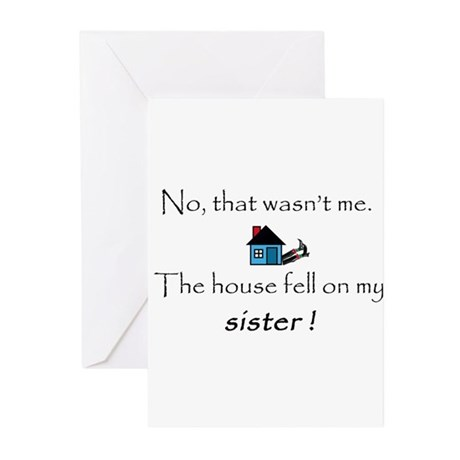 House fell on my Sister Greeting Cards (Pk of 20)