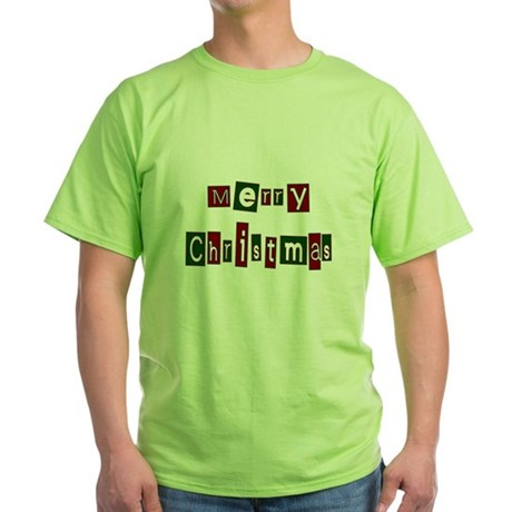 Merry Christmas Green T-Shirt