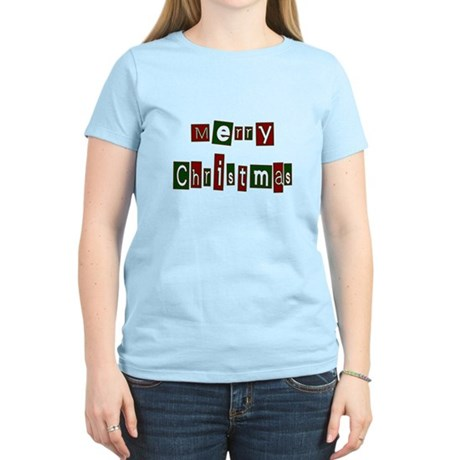 Merry Christmas Women's Light T-Shirt
