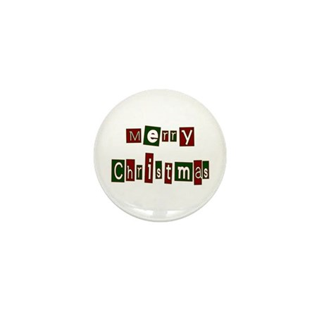 Merry Christmas Mini Button (100 pack)