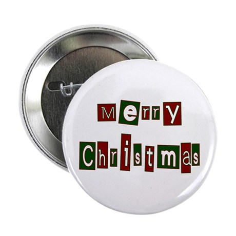 "Merry Christmas 2.25"" Button (100 pack)"
