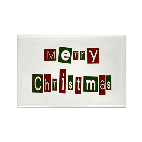 Merry Christmas Rectangle Magnet