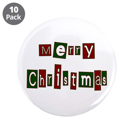 "Merry Christmas 3.5"" Button (10 pack)"