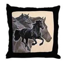Celebrate Friesians Throw Pillow