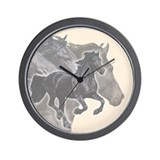 Celebrate Friesians Wall Clock