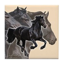 Celebrate Friesians Tile Coaster
