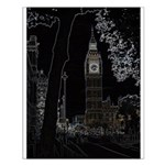 Neon Big Ben Glows Small Poster