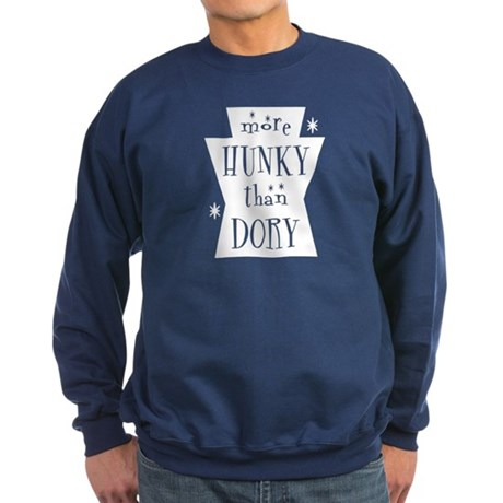 More Hunky Than Dory Sweatshirt (dark)