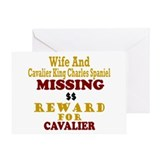 Wife & Cavalier King Charles Missing Greeting Card