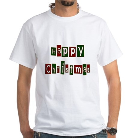 Happy Christmas White T-Shirt