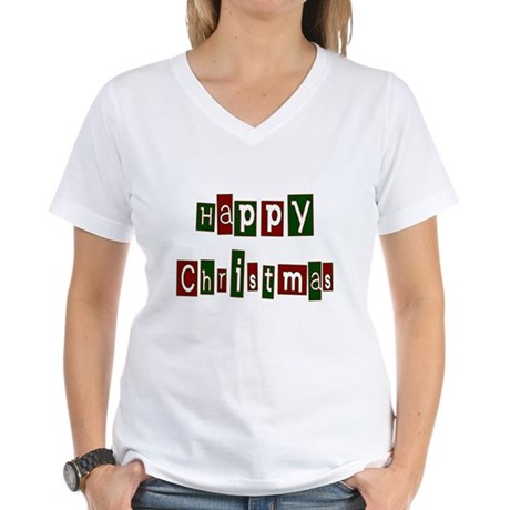 Happy Christmas Women's V-Neck T-Shirt