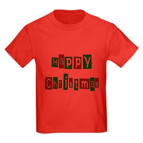Happy Christmas Kids Dark T-Shirt