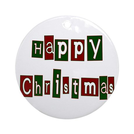 Happy Christmas Ornament (Round)
