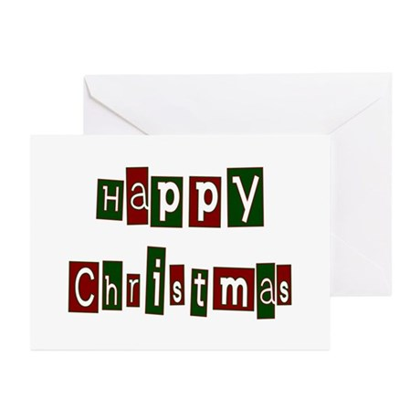 Happy Christmas Greeting Cards (Pk of 10)