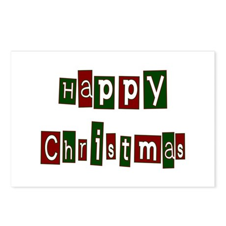 Happy Christmas Postcards (Package of 8)
