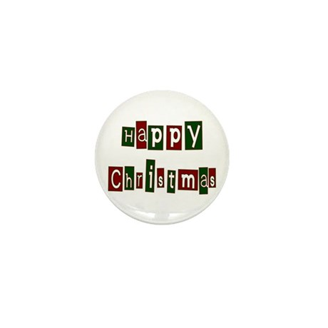 Happy Christmas Mini Button (100 pack)