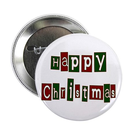 "Happy Christmas 2.25"" Button (100 pack)"