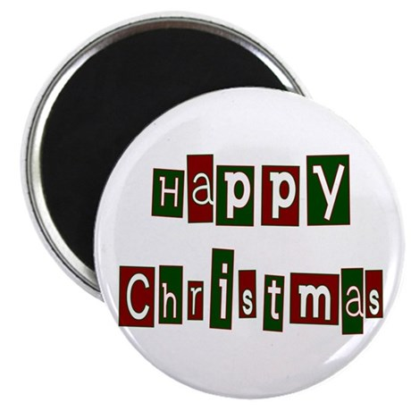 "Happy Christmas 2.25"" Magnet (100 pack)"