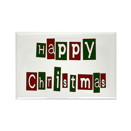 Happy Christmas Rectangle Magnet (100 pack)