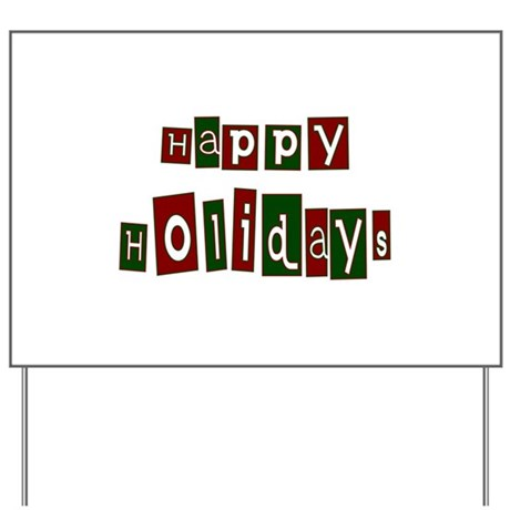 Happy Holidays Yard Sign