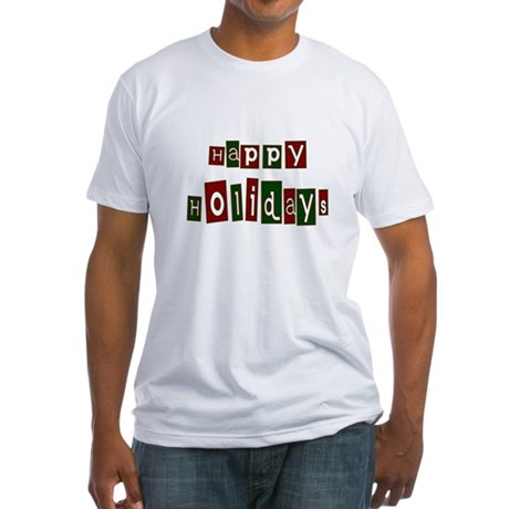 Happy Holidays Fitted T-Shirt