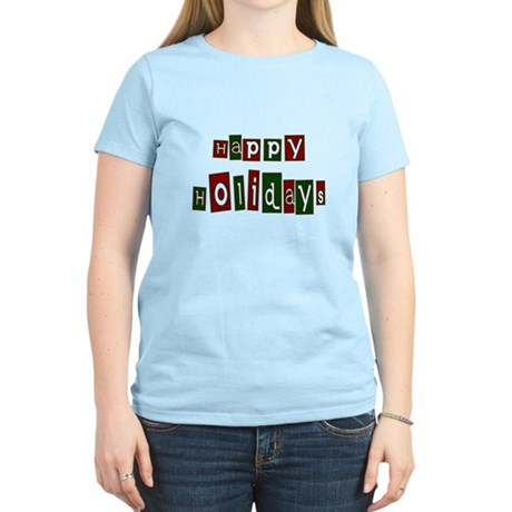 Happy Holidays Women's Light T-Shirt
